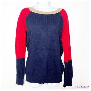 J.CREW   Red & Navy Blue Sweatshirt